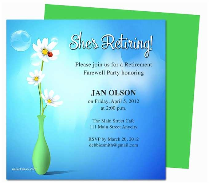 Retirement Invitation Templates Free Tips How to Create Appealing Retirement Party Invitations
