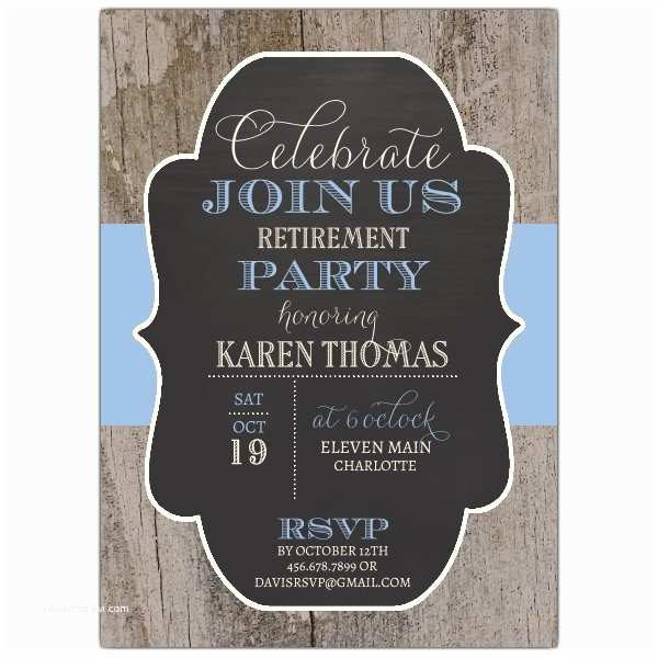 Retirement Invitation Wording Rustic Changeable Color Band Retirement Invites