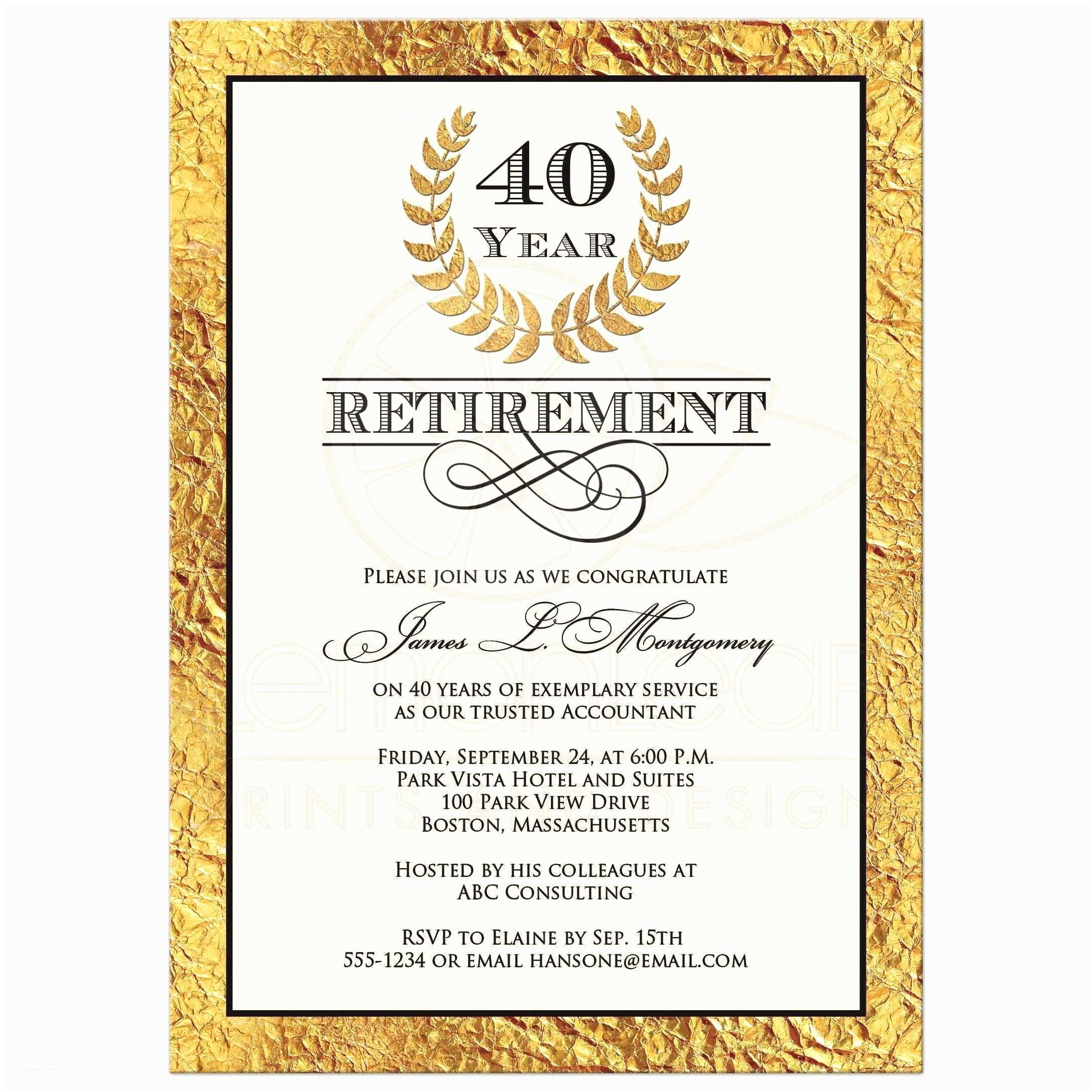 Retirement Invitation Wording Surprise Retirement Invitation Wording Archives