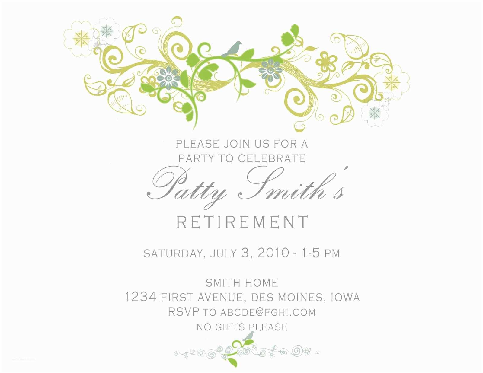 Invitations Retirement Invitation Card