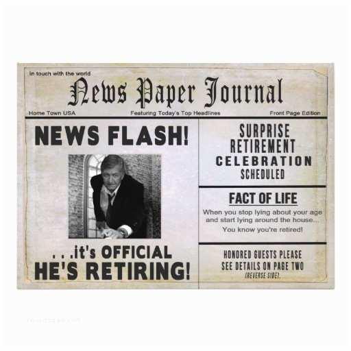 Retirement Invitations Retirement Party Invitation Photo Insert News Invite