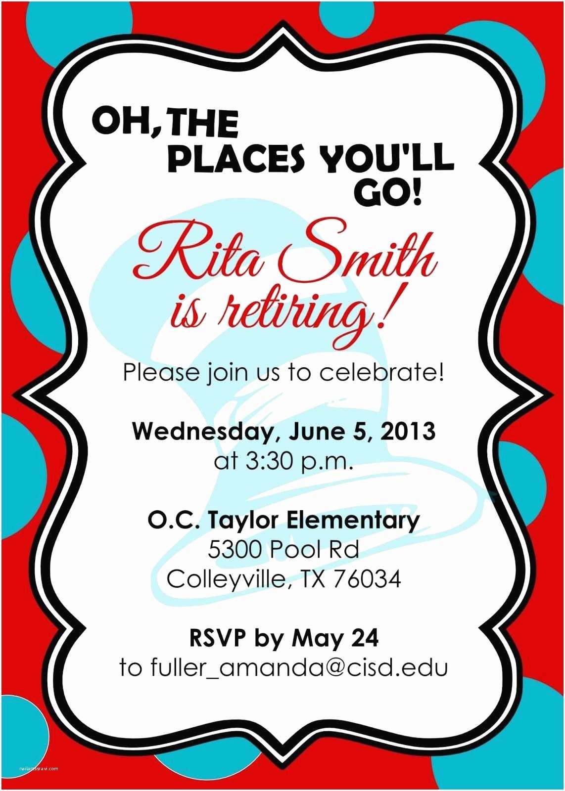 Retirement Invitations Retirement Party Invitations Free Templates