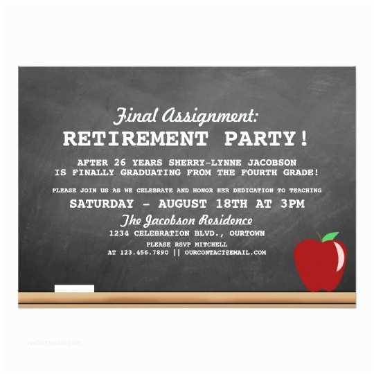 Retirement Invitations Teacher Retirement Party Invitation