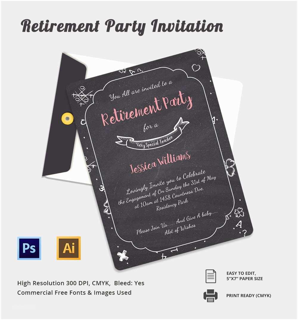 Retirement Party Invitation Template 16 Retirement Invitation Templates – Free Sample Example