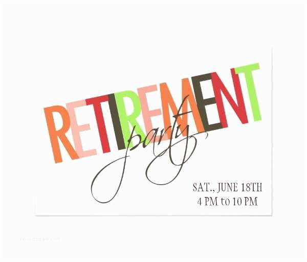 Retirement Party Invitation Template 30 Retirement Party Invitation Design & Templates Psd