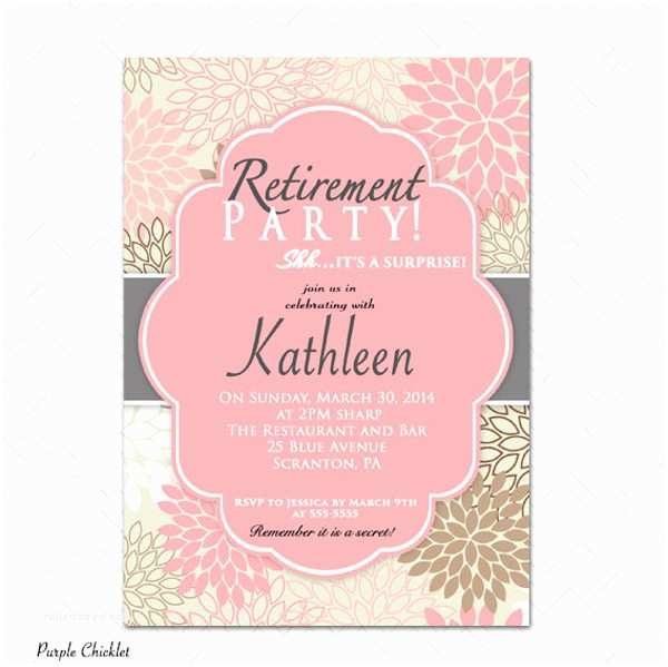 Retirement Party Invitation Template 9 Surprise Party Invitation Free Sample Example