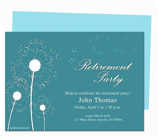 Retirement Party Invitation Template Free Printable Retirement Party Invitations