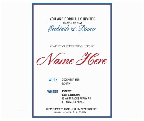 Retirement Party Invitation Template Free Retirement Card Invitation Template – orderecigsjuicefo