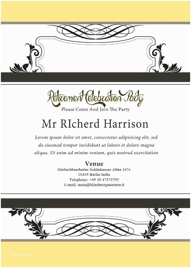 Retirement Party Invitation Template Free Retirement Flyer Template Free Free Retirement