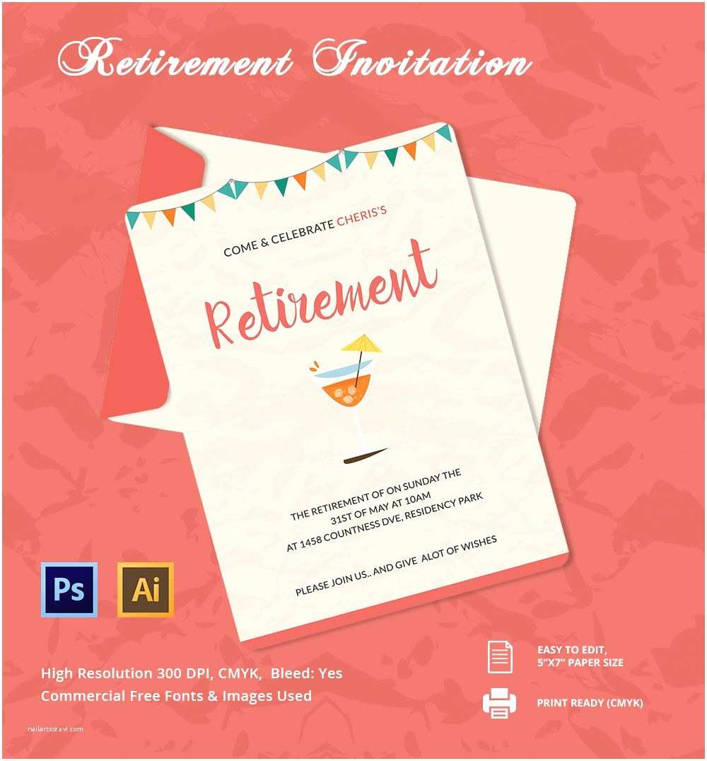 Retirement Party Invitation Template Free Retirement Invitation Template Retirement Party