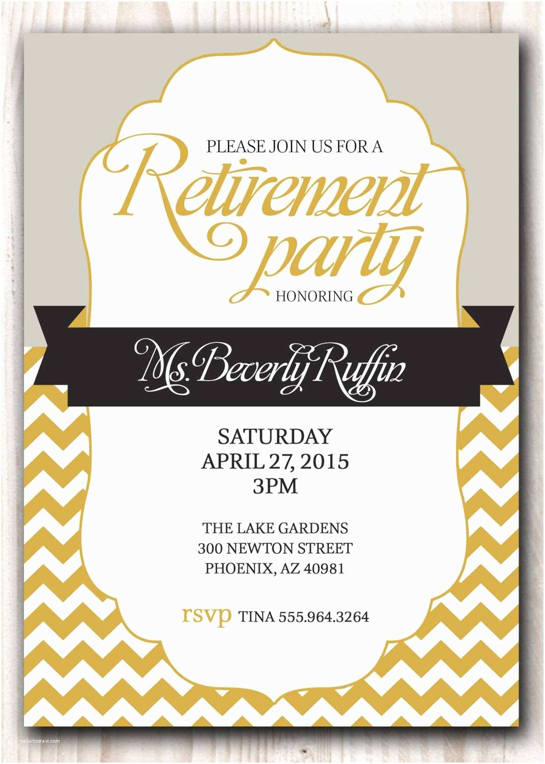 Retirement Party Invitation Template Free Retirement Party Invitation Template