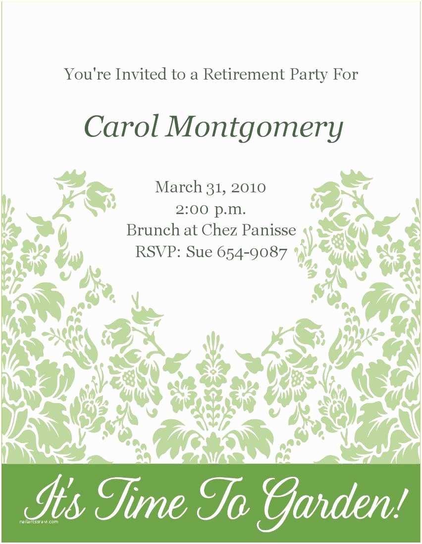 Retirement Party Invitation Template Retirement Party Invitation Template