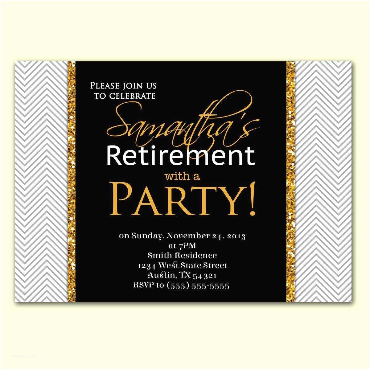 Retirement Party Invitation Wording Retirement Party Invitation Template