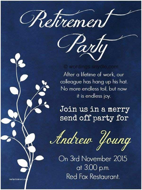 Retirement Party Invitations Nice Retirement Party Invitation Wording