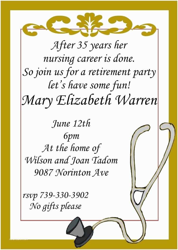 Retirement Party Invitations Nursing Retirement Party Invitations Custom Made