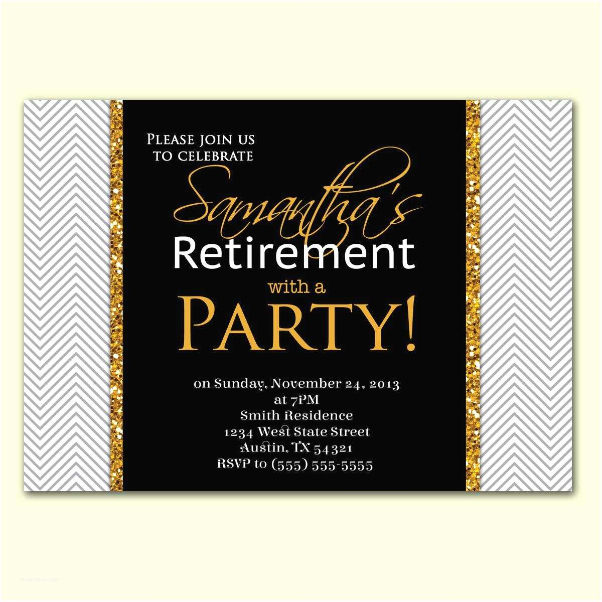 Retirement Party Invitations Retirement Party Invitation Template