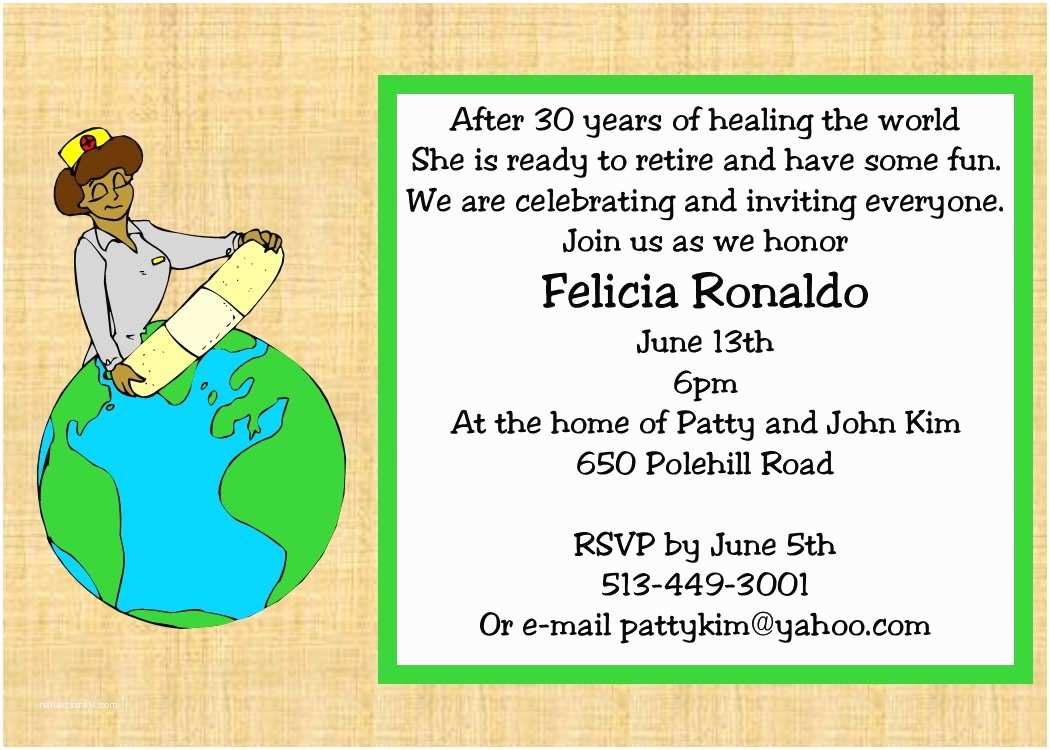 Retirement Party Invitations Retirement Party Invitations Custom Designed New for
