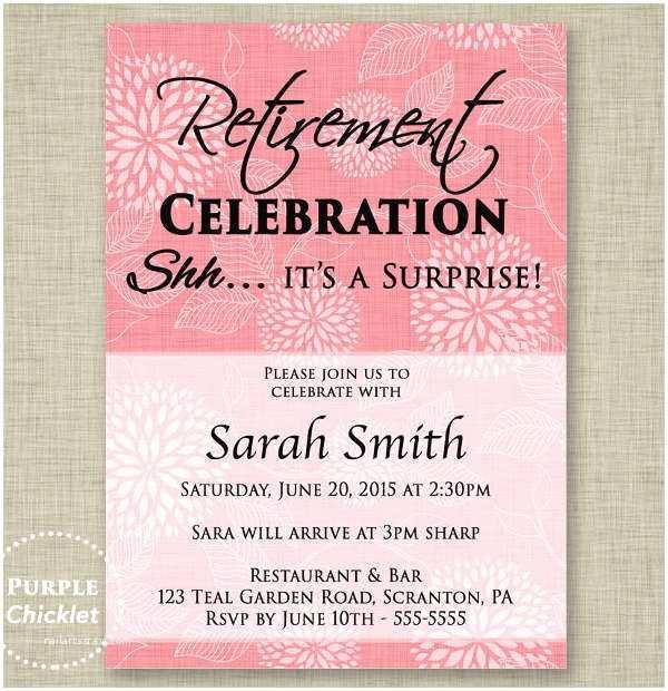 Retirement Party Invitations Surprise Retirement Party Invitations 8 Retirement Party