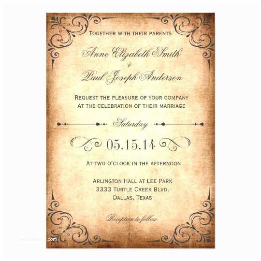 Retro Wedding Invitations Rustic Vintage Wedding Invitation