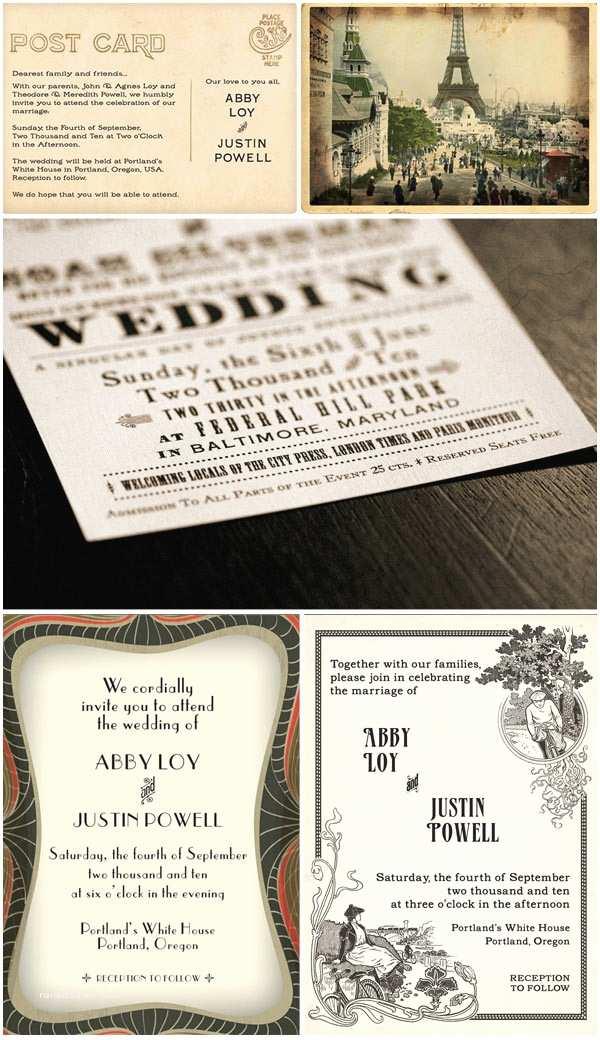 vintage wedding invitations beautiful