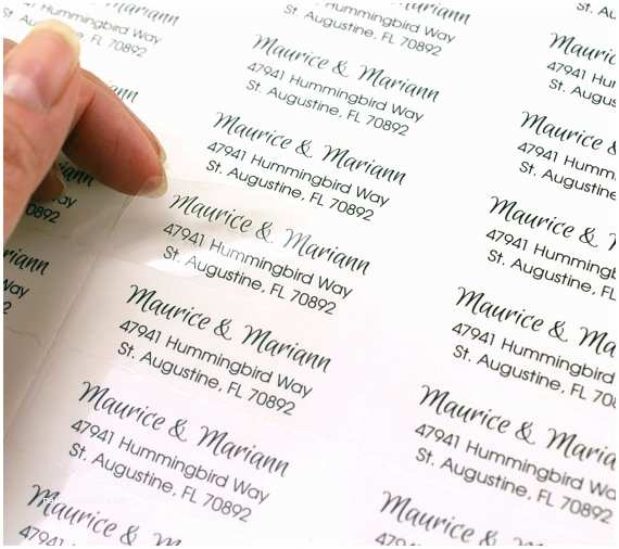 custom print clear address labels 2 58 x 1 transparent custom labels clear wedding favor labels return address labels invitations