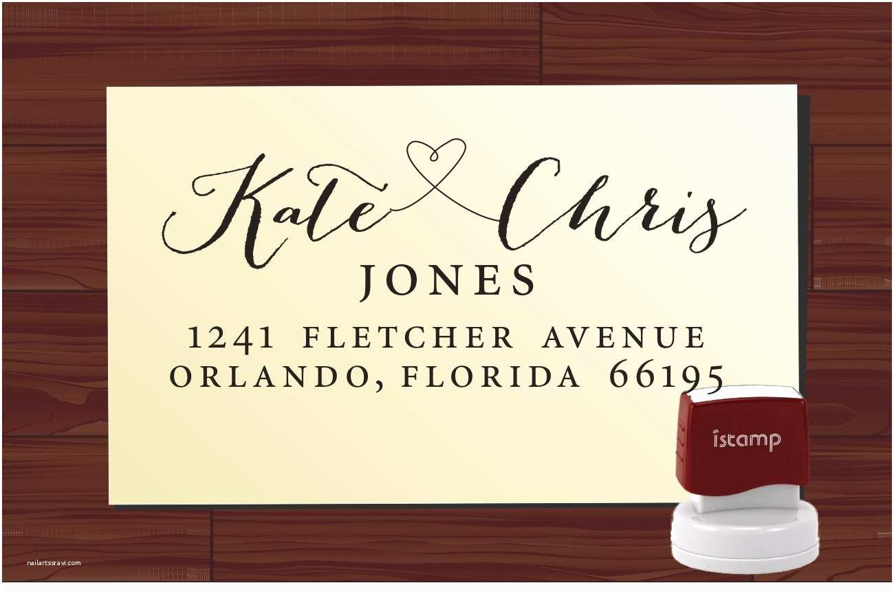 Return Address Labels for Wedding Invitations Wedding Invitation Custom Stamp Return Address Label Colored