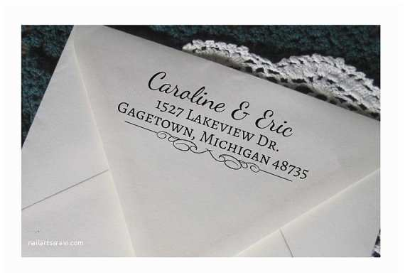 personalized return address stamp custom