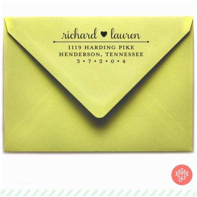 Return Address On Wedding Invitations Samantha Return Address Stamp Wooden Handle or Self