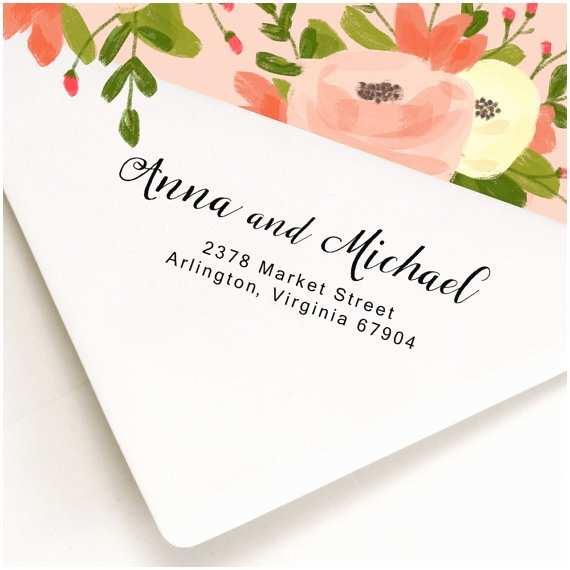 Return Address Wedding Invitations Custom Address Stamp Wood Handle Self Inking Stamp
