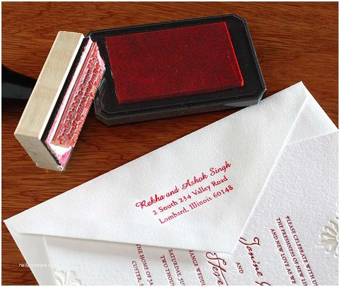 Return Address Wedding Invitations Custom Rubber Stamps for Wedding Invitations
