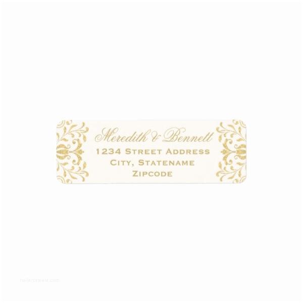 Return Address Wedding Invitations Gold Vintage Glamor Return Address Labels Luxury Wedding