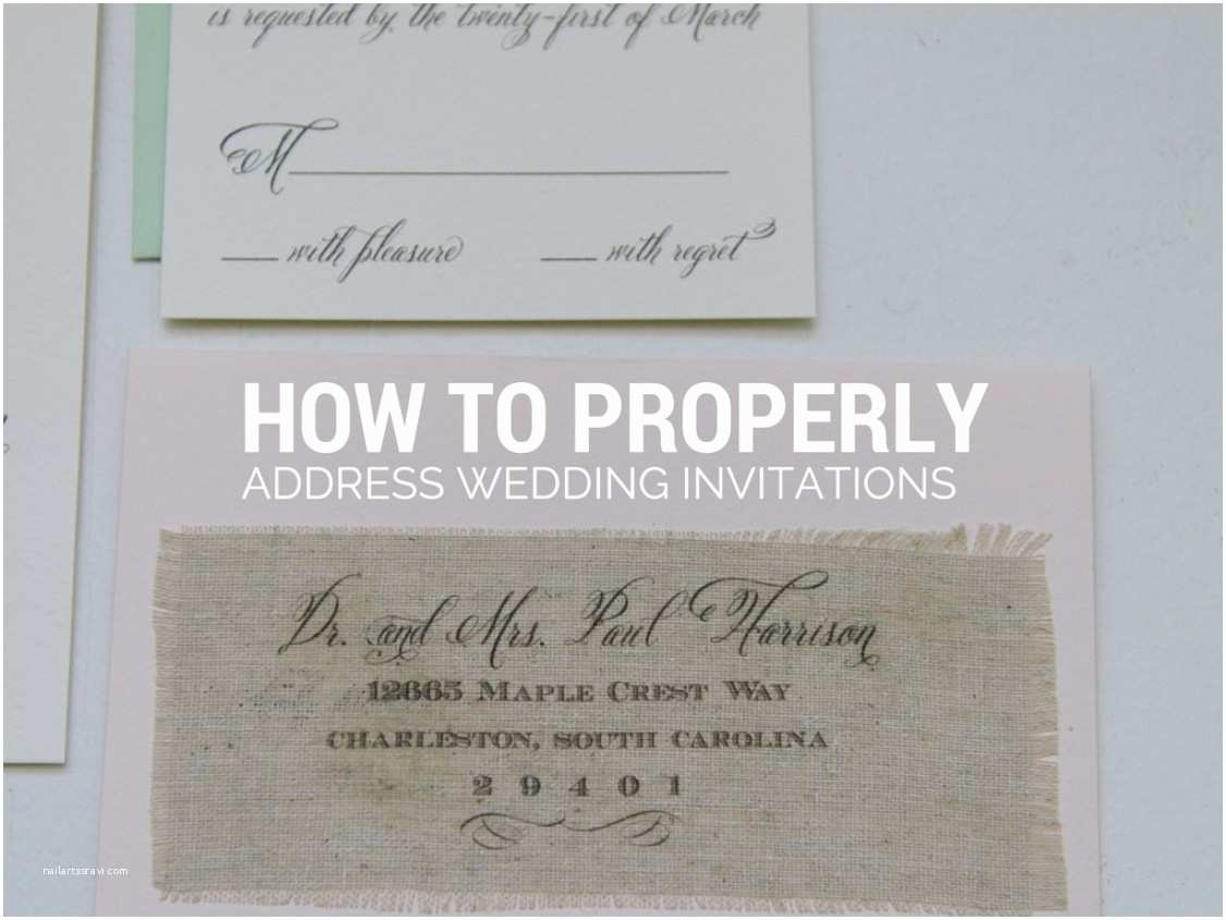 Return Address Wedding Invitations How to Properly Address Wedding Invitations Gangcraft