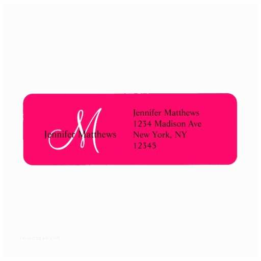 Return Address Wedding Invitations Monogram Wedding Invitation Return Address Labels