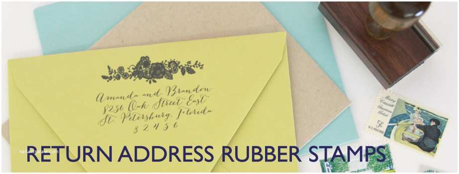 Return Address Wedding Invitations Return Address Stamp for Wedding Invitations