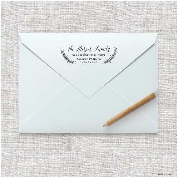 Return Address Wedding Invitations Self Inking Return Address Stamp Wedding Invitation Stamp