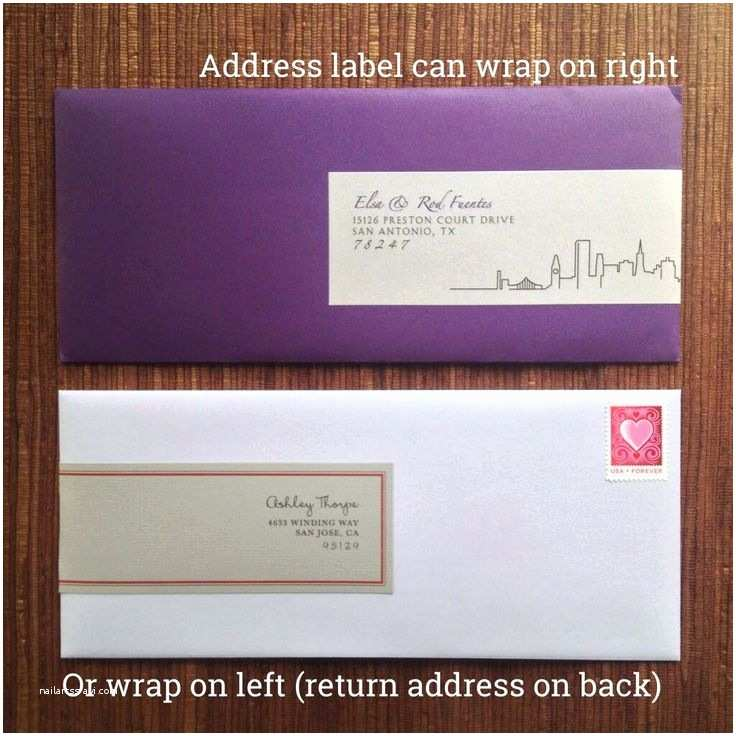 Return Address Wedding Invitations Wedding Invitation Envelope Labels All In One Return