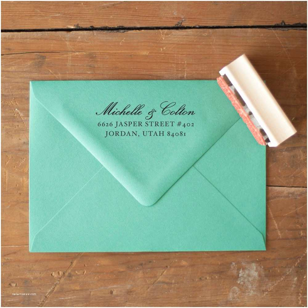 Return Labels for Wedding Invitations Custom Return Address Stamp Wedding Invitation Stamp Rustic