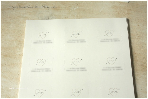 Return Labels for Wedding Invitations Diy Rustic Wedding Invitations Megan Brooke Handmade