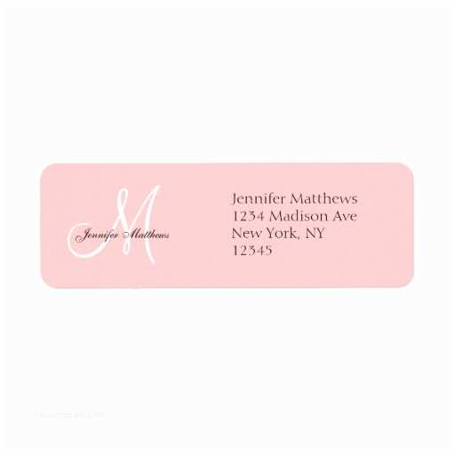 Return Labels for Wedding Invitations Monogram Wedding Invitation Return Address Labels