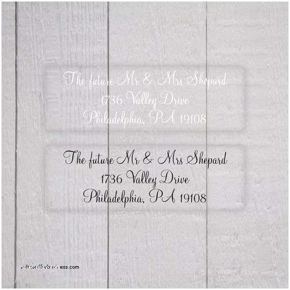 Return Labels for Wedding Invitations Wedding Invitation Beautiful Clear Labels Wedding