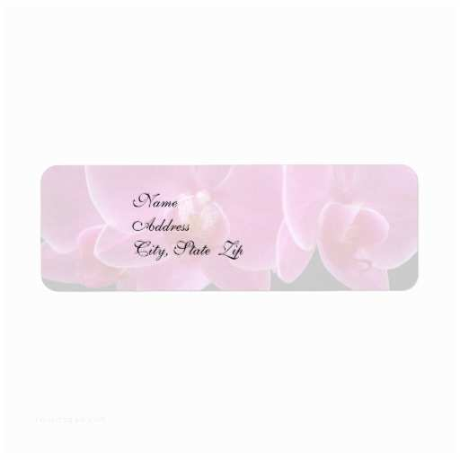 Return Labels for Wedding Invitations Wedding Invitation Return Address Label orchids