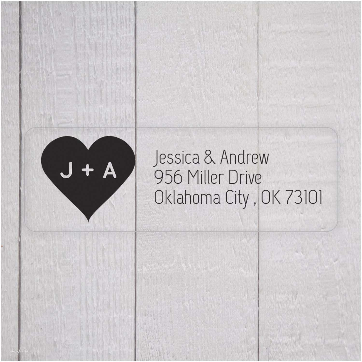 Return Labels for Wedding Invitations Wedding Invitation Return Address Labels Clear by