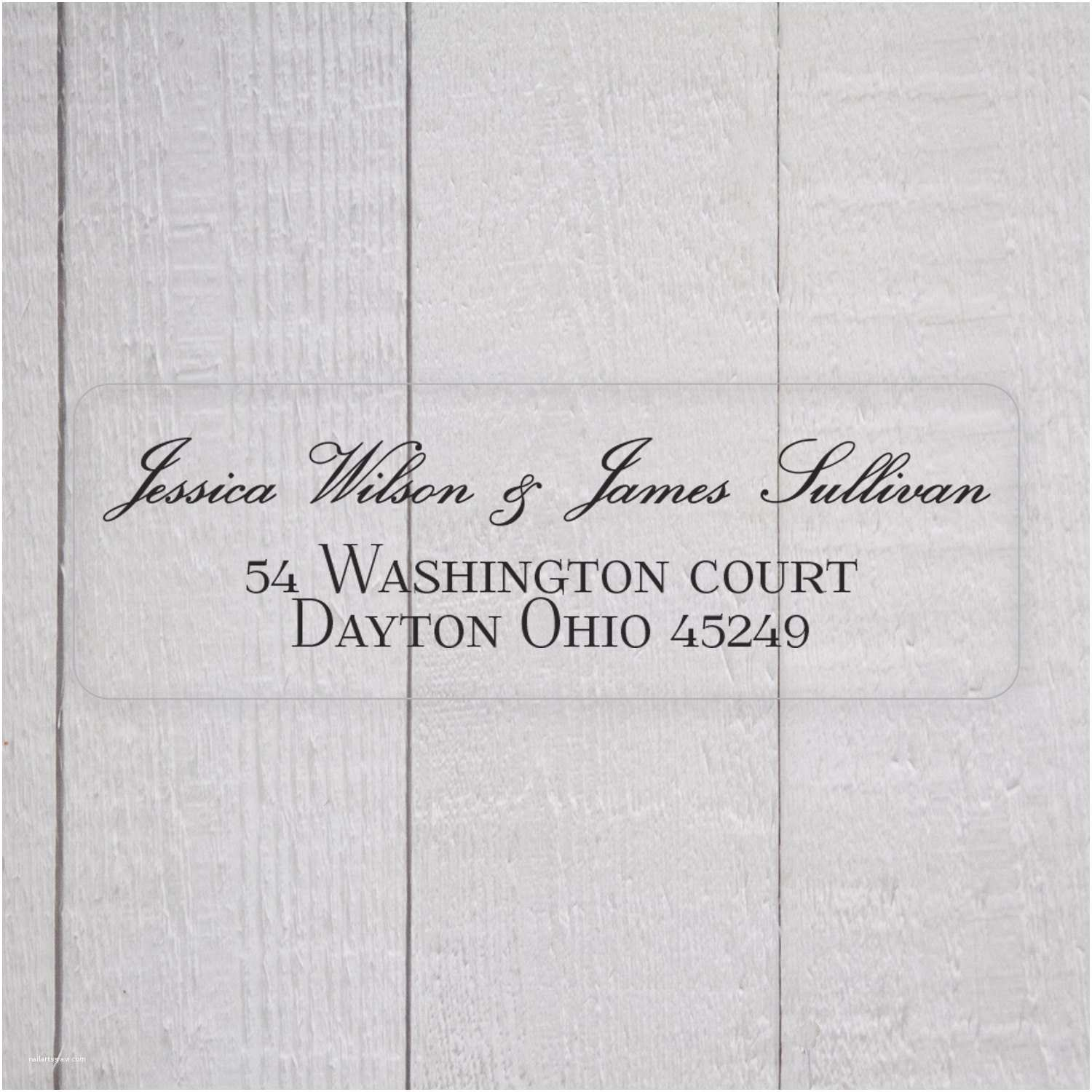 Return Labels for Wedding Invitations Wedding Invitation Return Address Labels White by