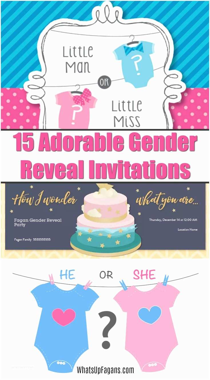 Reveal Party Invitations 15 Adorable Baby Gender Reveal Party Invitations