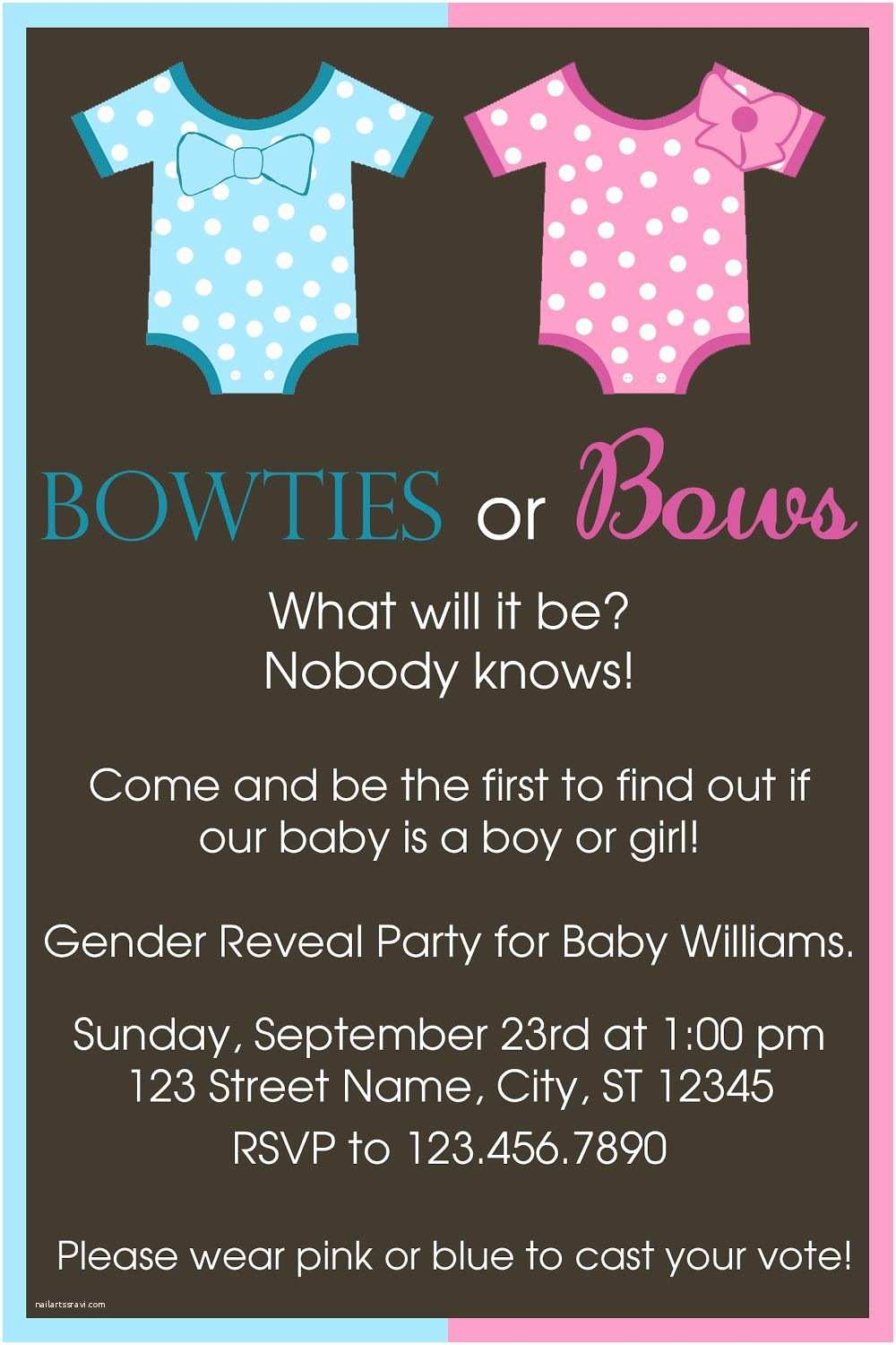 Reveal Party Invitations Gender Reveal Ideas Pinned for Babybump the 1 Mobile