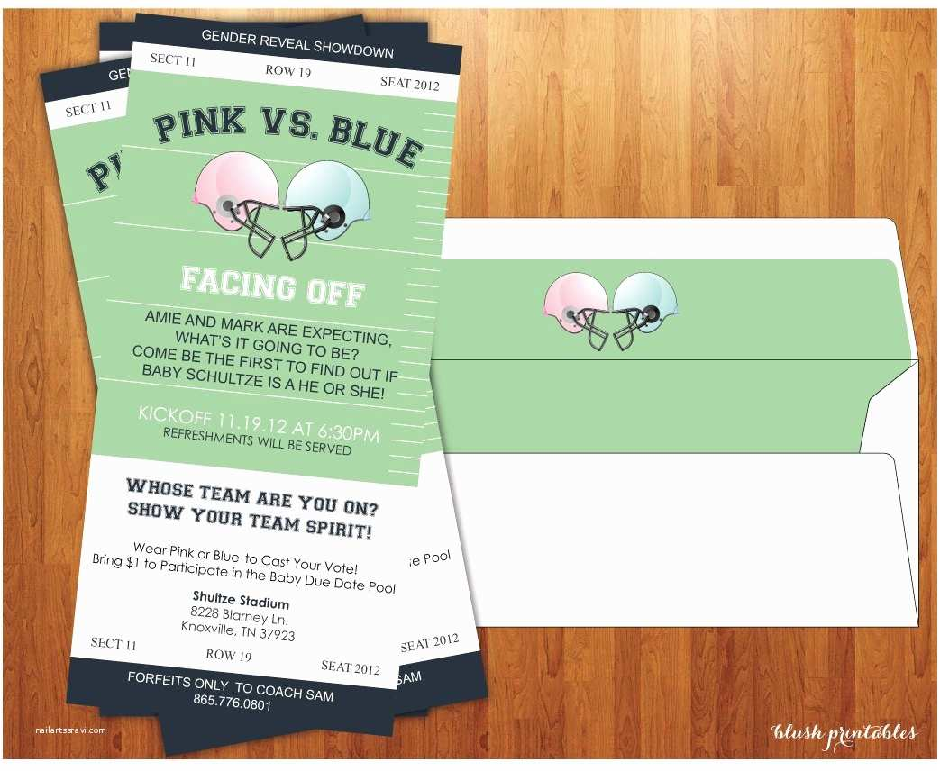 Reveal Party Invitations Gender Reveal Invitation Baby Shower Gender by Blushprintables