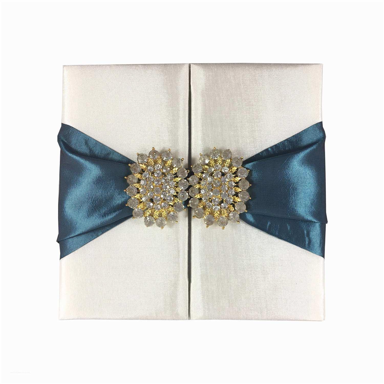 Ribbon Brooch Wedding Invitation Lace Wedding Invitations Featuring Silver Dupioni Silk Ivory Lace Vintage Crystal Brooch