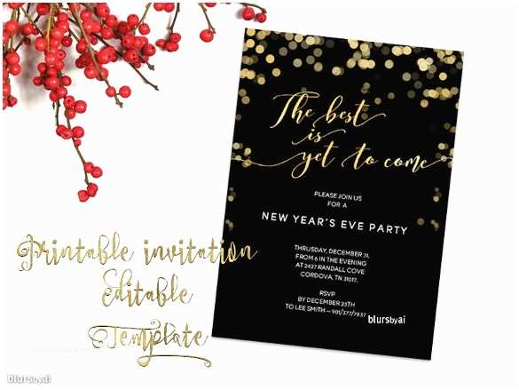 Ring In the New Year Wedding Invite Free Christmas Invitation Templates Word Invitation Template