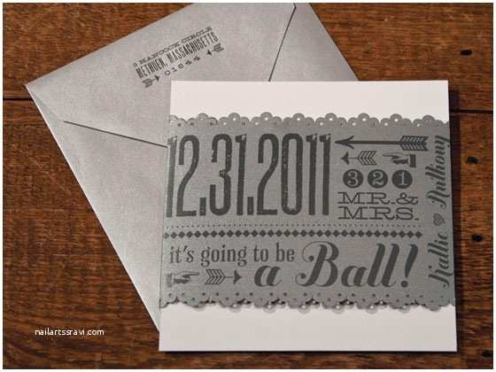 Ring In the New Year Wedding Invite Gray Archives Invitation Crush