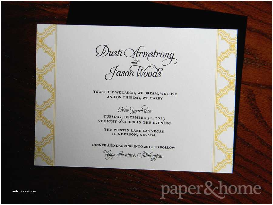 Ring In the New Year Wedding Invite New Year S Eve Wedding Invitations Dusti & Jason Paper